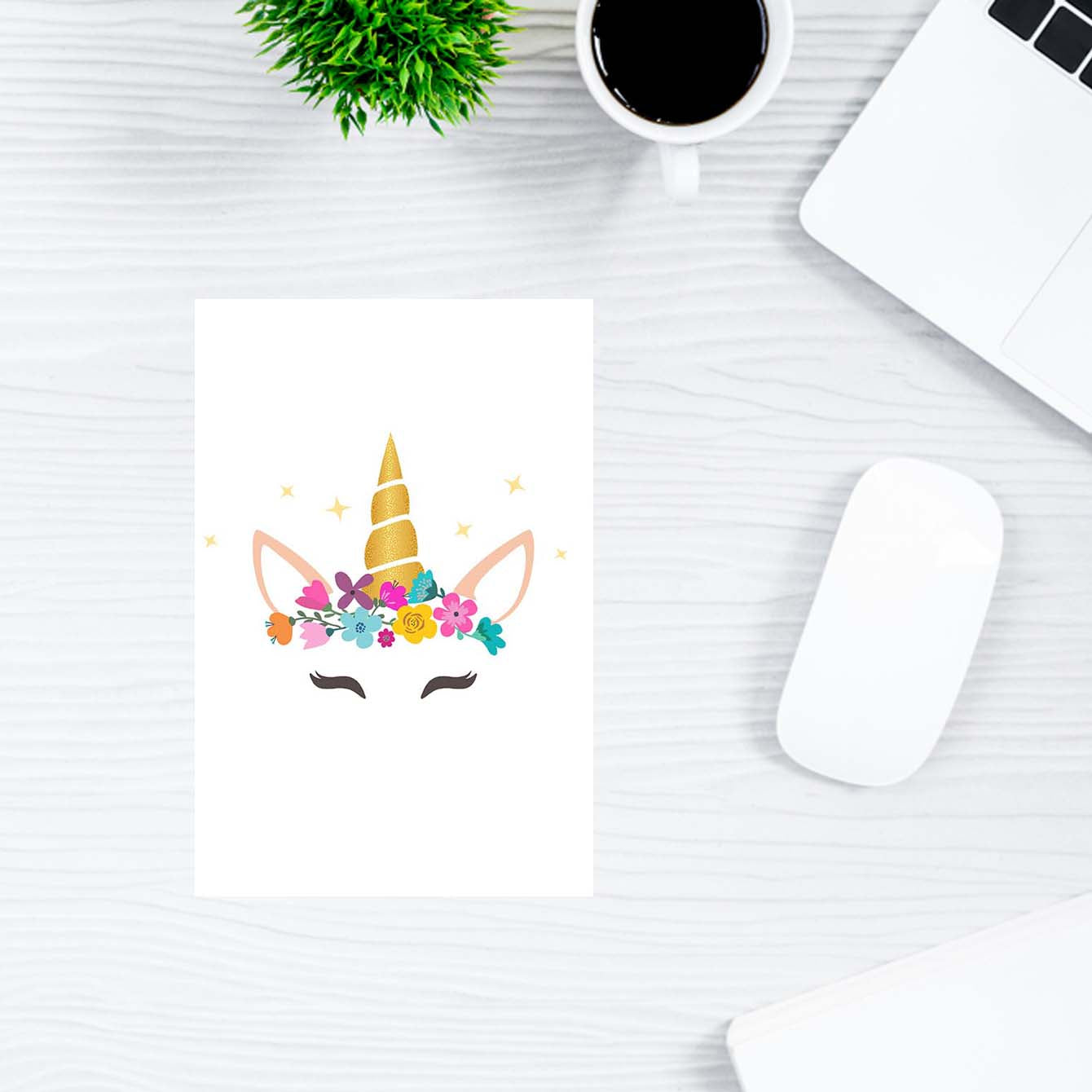 Caticorn With Horn And Flower Flower Post Cards Online