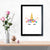 Caticorn With Horn And Flower   Framed Poster