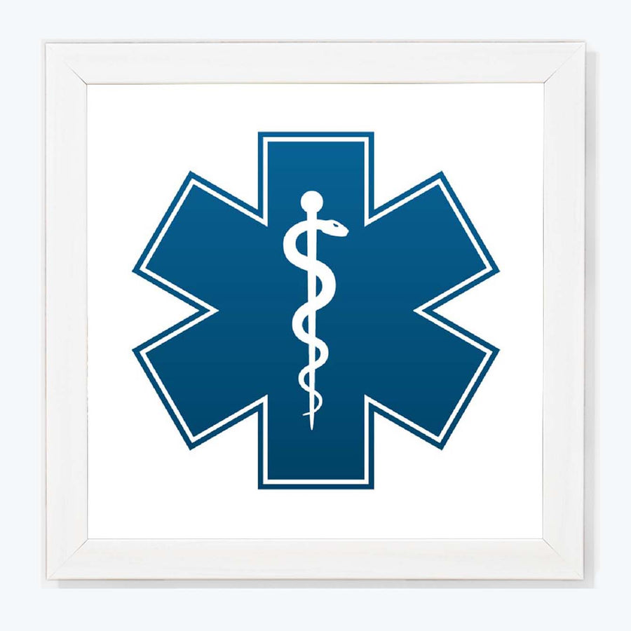 caduceus as a  of medicine Framed Poster