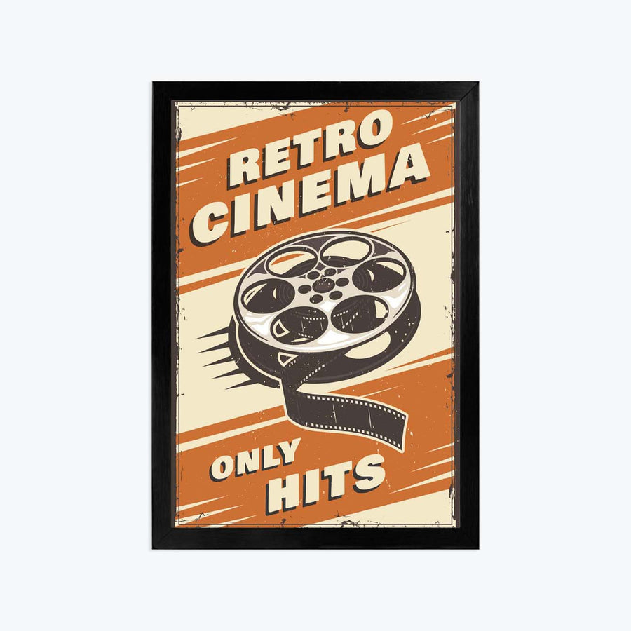 Reteo cinema only hits Framed Poster