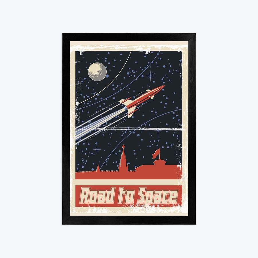 Road to space Framed Poster
