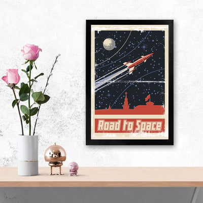 Road to space Travel Glass Framed Posters & Artprints