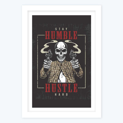 Stay humble hustle Framed Poster