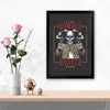 Stay humble hustle Retro Glass Framed Posters & Artprints