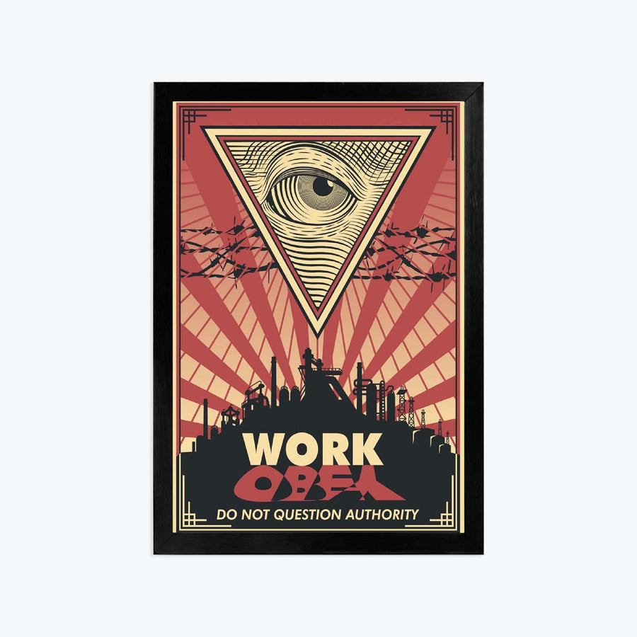 Work Framed Poster