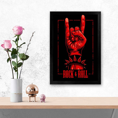 ROck and roll Retro Glass Framed Posters & Artprints