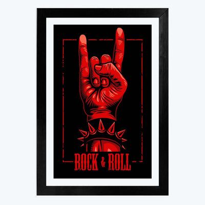ROck and roll Framed Poster