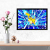 Pikachu Cartoon Glass Framed Posters & Artprints