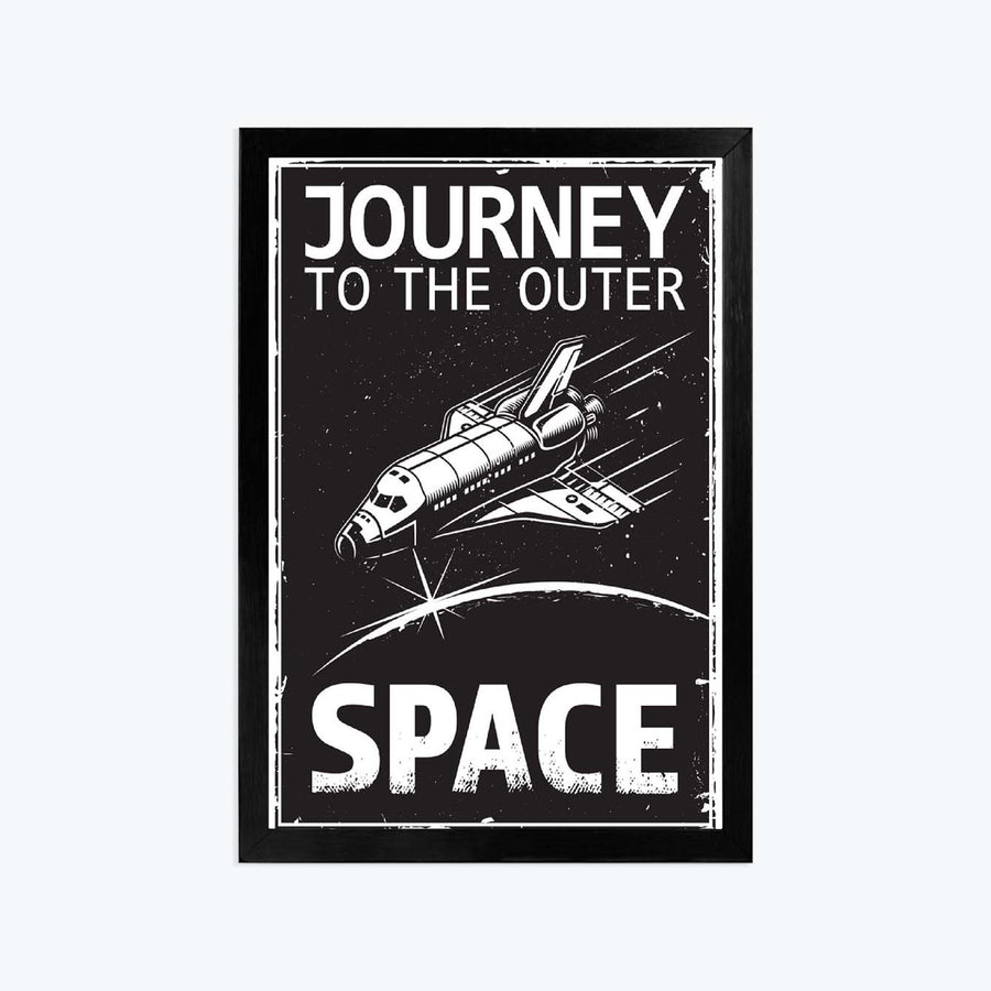 JOurney space Framed Poster
