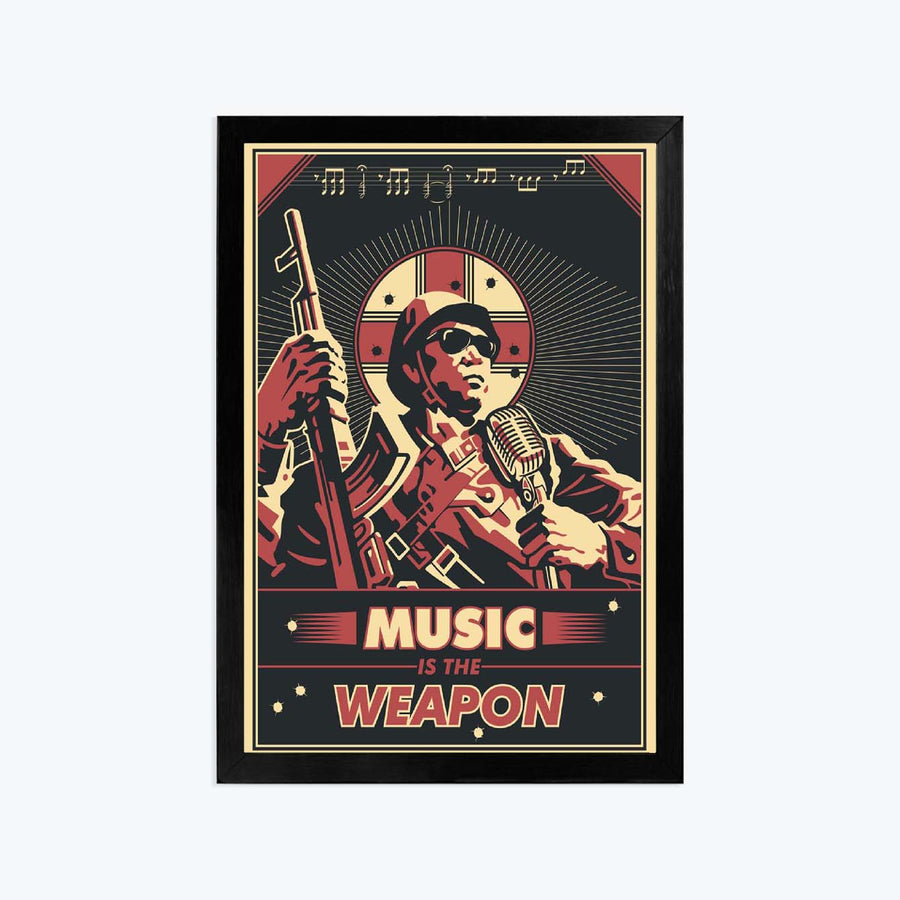 Music weapon Framed Poster