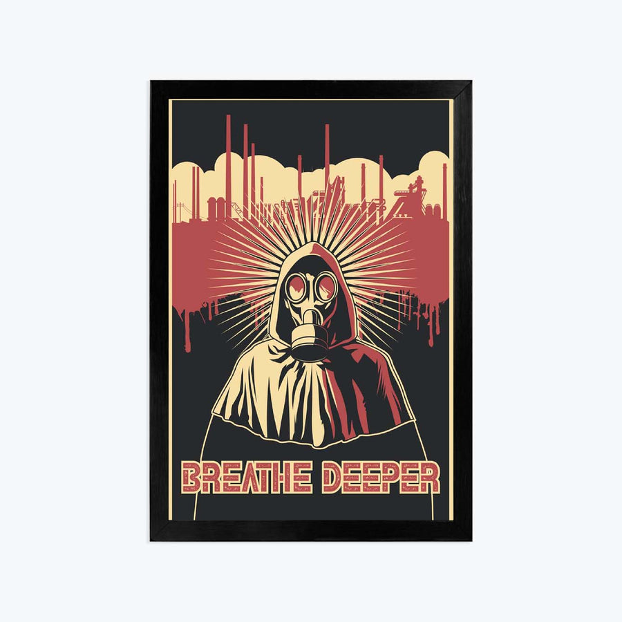 Breathe deeper Framed Poster
