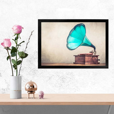 Gramhophone Music Glass Framed Posters & Artprints