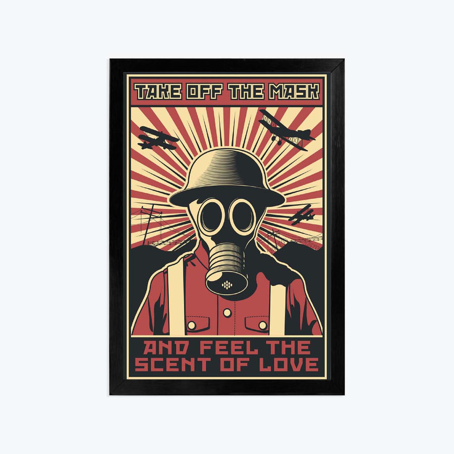 FEel the sceent of love Framed Poster