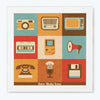Retro Media Icons Retro Glass Framed Posters & Artprints