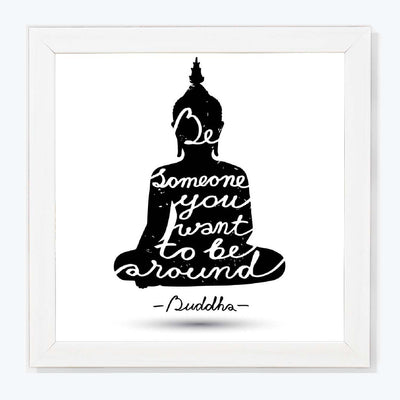 Gautma Buddha Quote Spritual Glass Framed Posters & Artprints