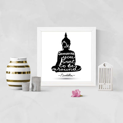 Gautma Buddha Quote Framed Poster