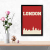 London Cities Glass Framed Posters & Artprints
