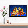Lord Krishna Spritual Glass Framed Posters & Artprints