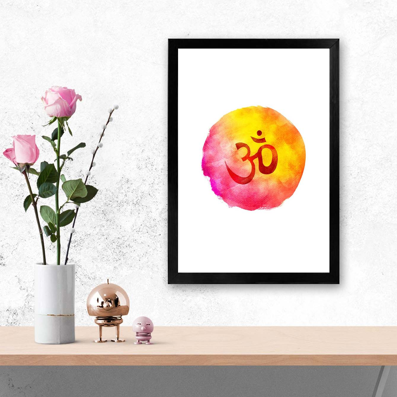Colorful Om  Framed Poster