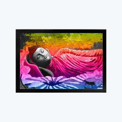 Colorful Buddha Framed Poster