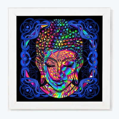 Colorful Abrrstract Buddha Spritual Glass Framed Posters & Artprints