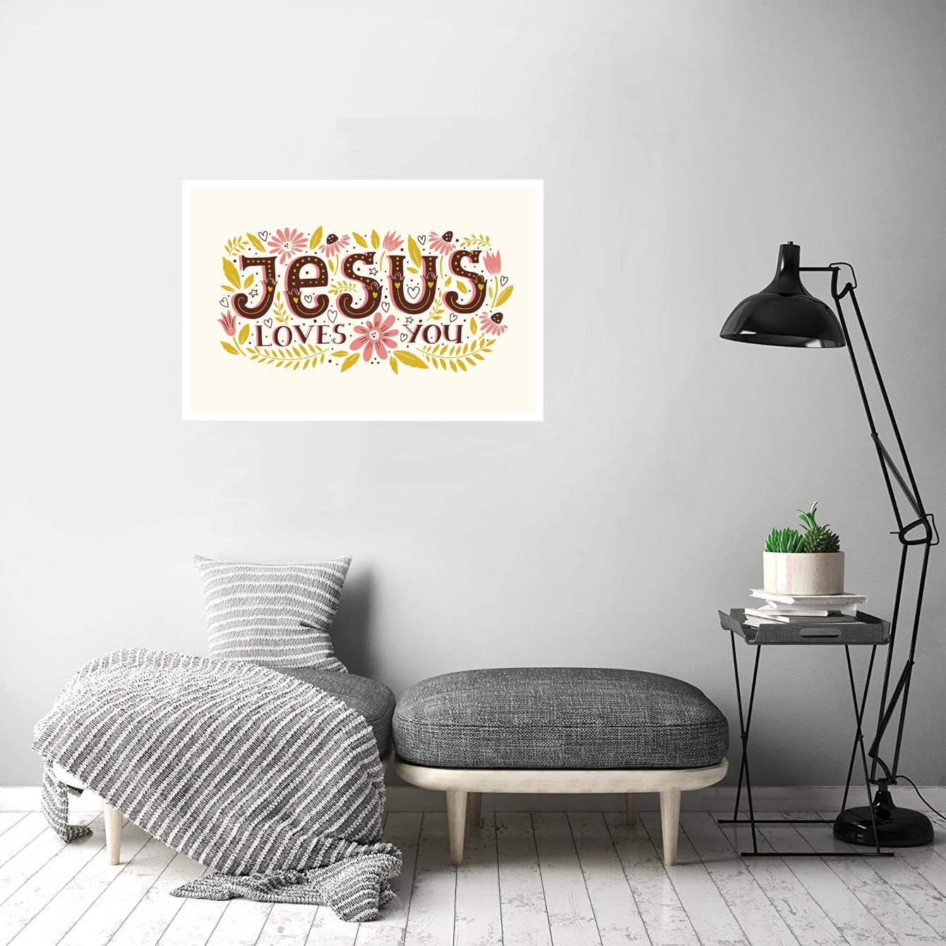 Jesus Love You Flower Posters