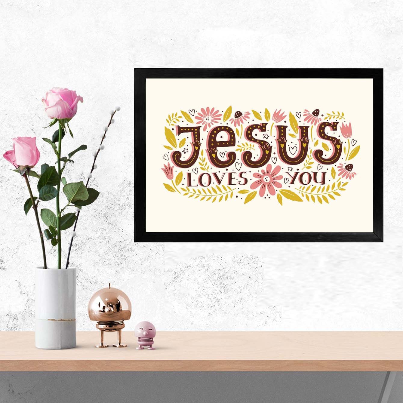 Jesus Love You Framed Poster