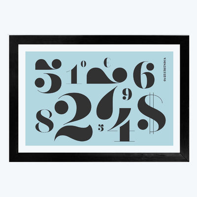 Numbers Framed Poster