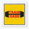 Train Hard Motivational Glass Framed Posters & Artprints