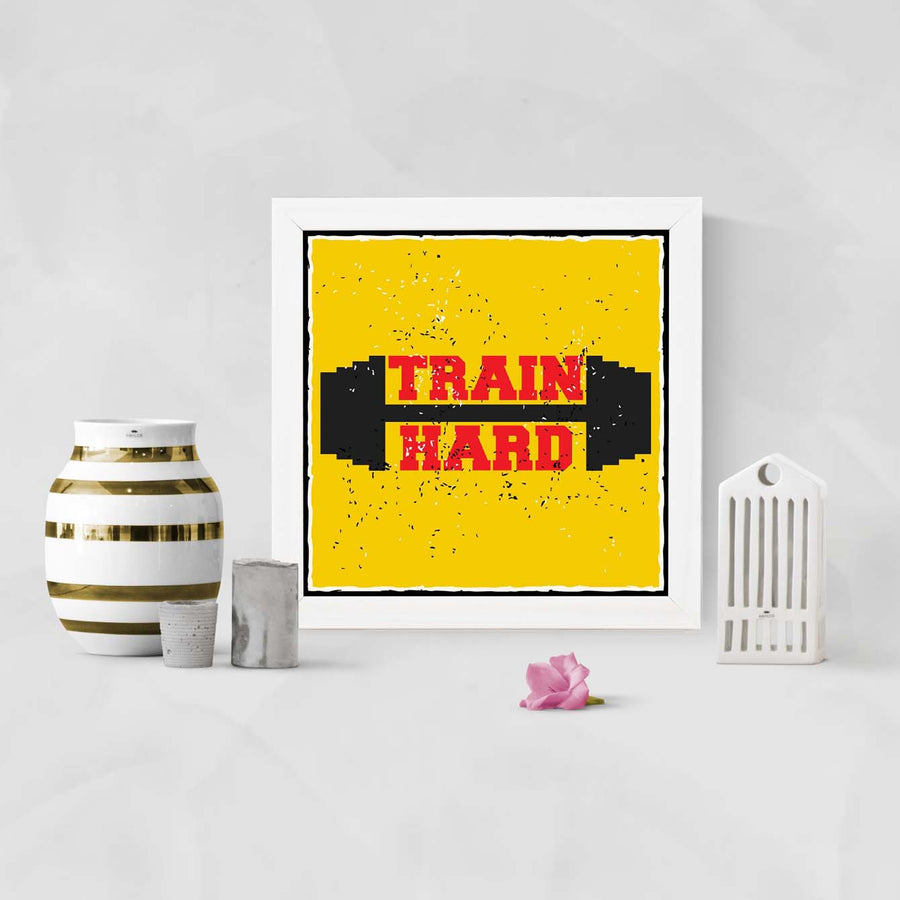 Train Hard Framed Poster