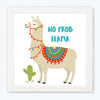 No Prob Llama Abstract Glass Framed Posters & Artprints