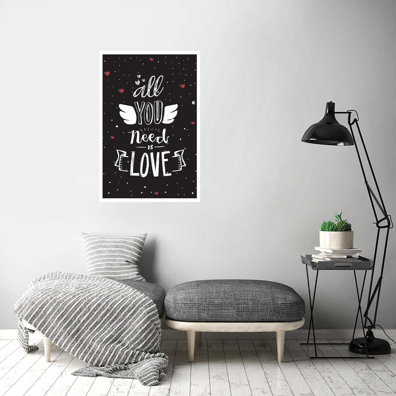 All You Need Is Love Typography Posters