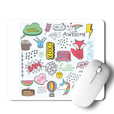 Xoxo Doodle Mouse Pad