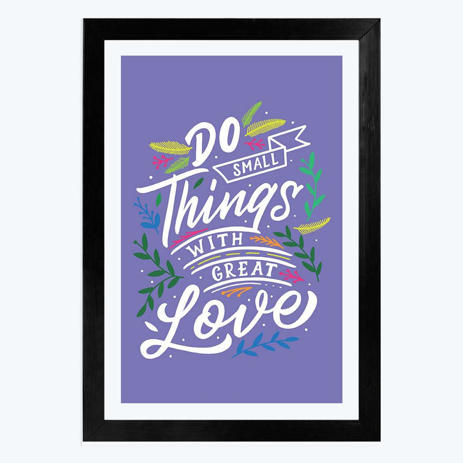 Great Thing With Love Framed Poster