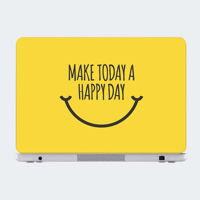Make Today A Happy Day Motivational Laptop Skin Online