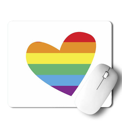 Heart LGBT Mouse Pad