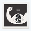 Yes You Can Cross Fit Gym Glass Framed Posters & Artprints