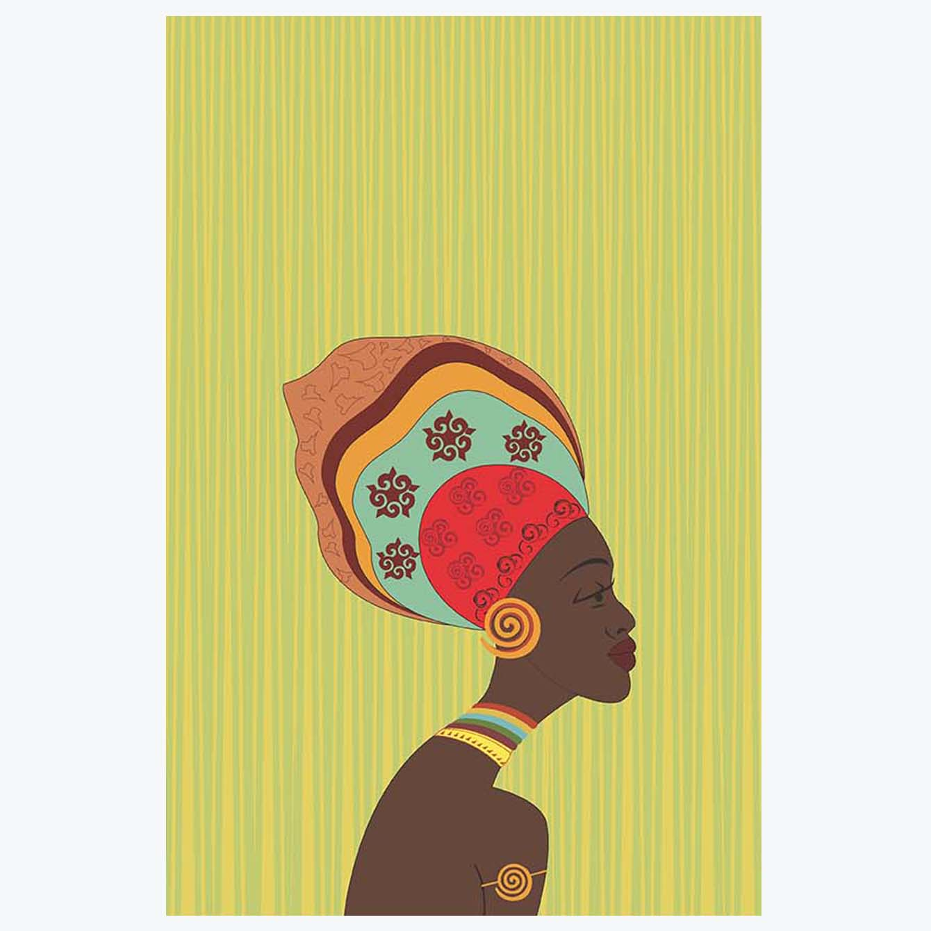 African Ethnic Women Painting Posters