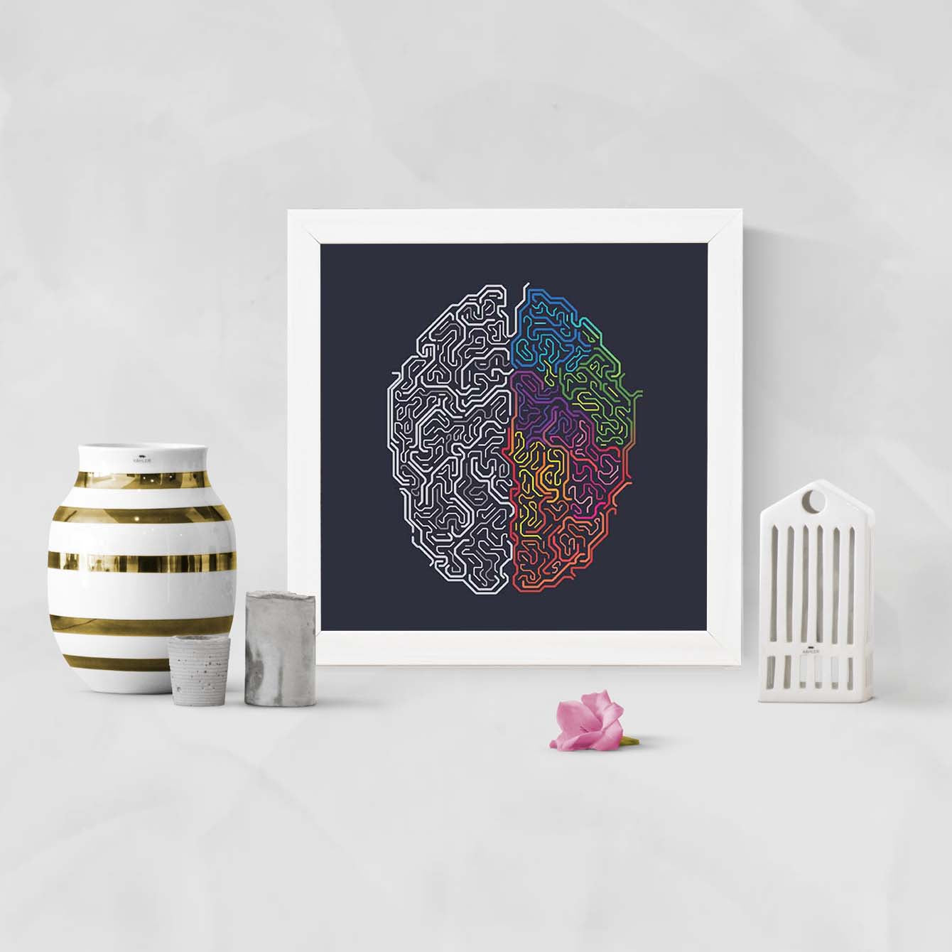 Brain Function   Framed Poster