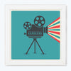 Cinema Camera Retro Glass Framed Posters & Artprints