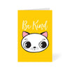 Be Kind Cute Cat Cartoon Greeting Card Online