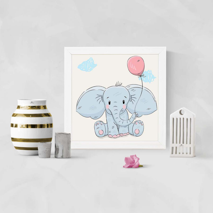 Elephant Animal Glass Framed Posters & Artprints