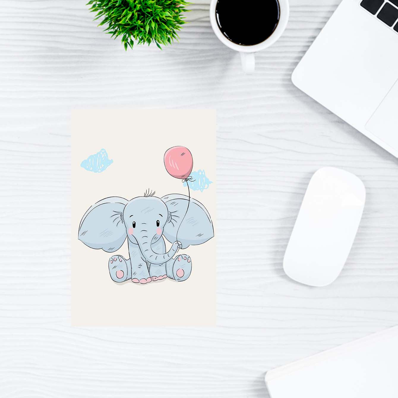 Elephant Animal Post Cards Online