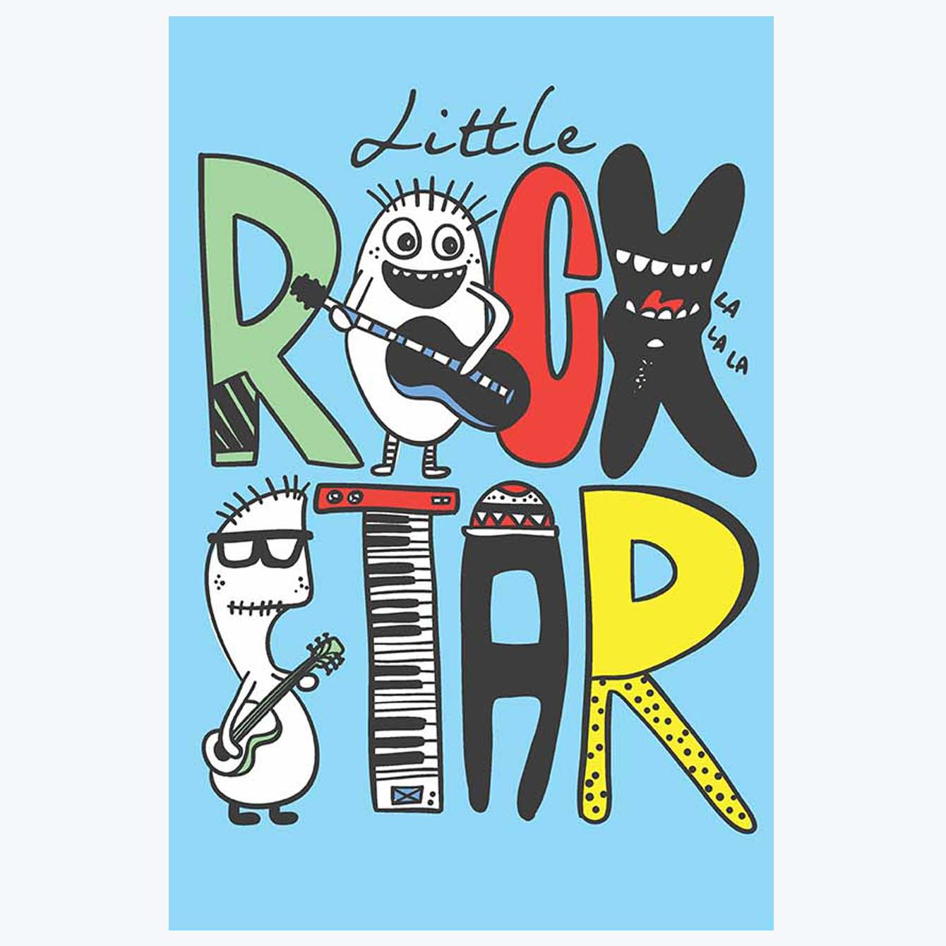 Little Rock Star Typography Posters