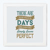 Magic Day Typography Glass Framed Posters & Artprints