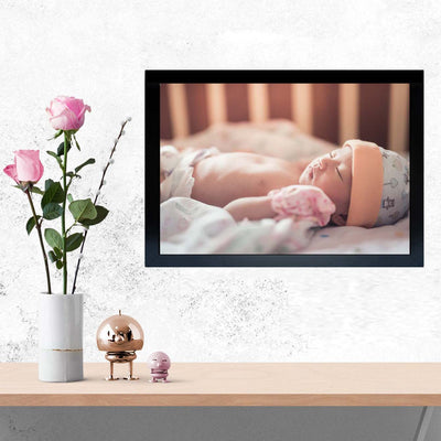 Sleeping Baby Baby Glass Framed Posters & Artprints