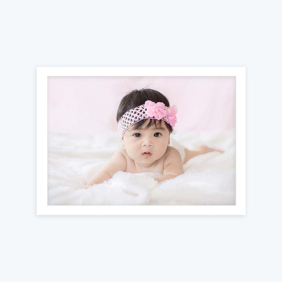 Baby Girl Baby Glass Framed Posters & Artprints