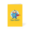 Super Dad Cartoon Greeting Card Online