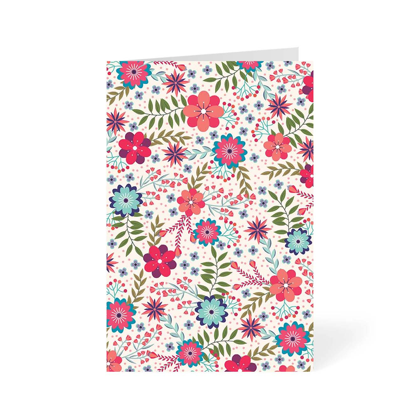 Floral Flower Greeting Card Online