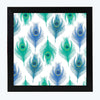 Peacock Feather Pattern Glass Framed Posters & Artprints